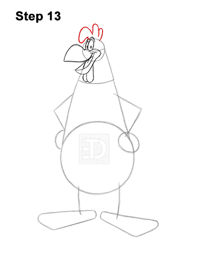 How to Draw Foghorn Leghorn Looney Tunes Merrie Melodies 13