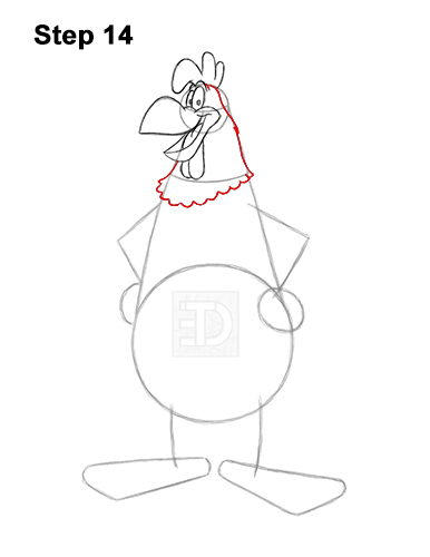 How to Draw Foghorn Leghorn Looney Tunes Merrie Melodies 14