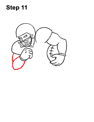 How to Draw Cartoon Football Player 11
