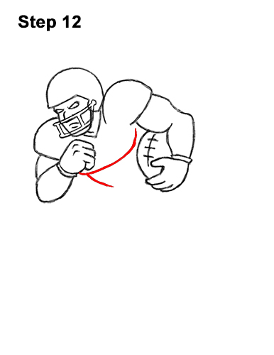 How to Draw Cartoon Football Player 12