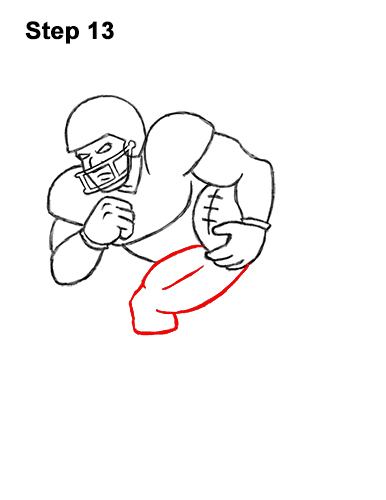 How to Draw Cartoon Football Player 13