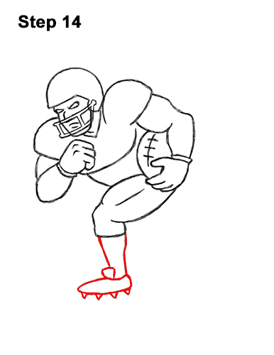 How to Draw Cartoon Football Player 14