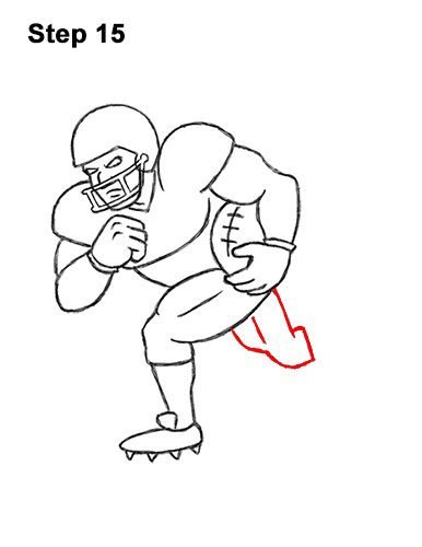 How to Draw Cartoon Football Player 15