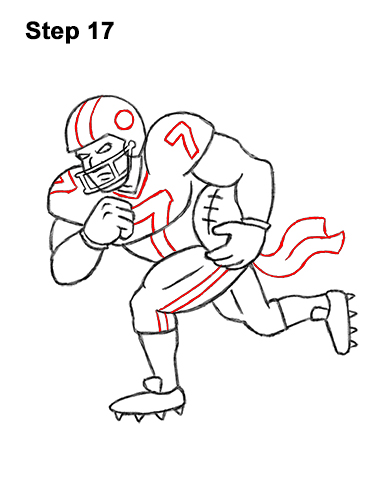 How To Draw A Football Player Video Step By Step Pictures