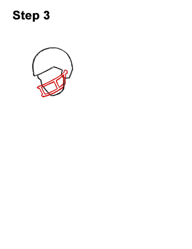 How to Draw Cartoon Football Player 3