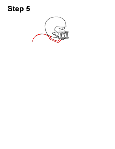 How to Draw a Cartoon Football Player Quarterback 5