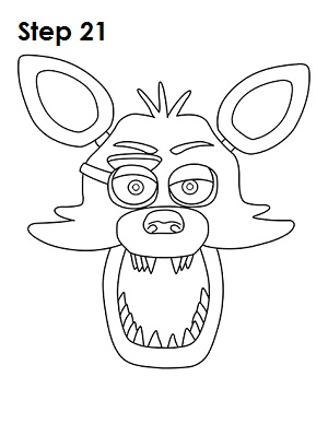 Mangle from Five Nights at Freddy's coloring page | Free Printable ... | 388x300