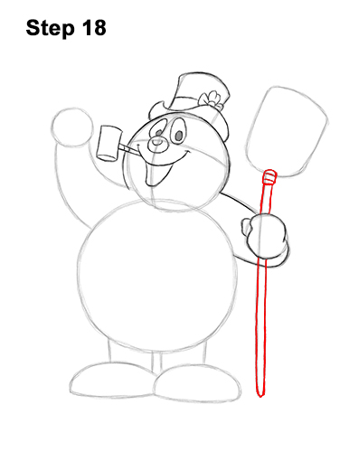 How to Draw Frosty the Snowman Christmas 18