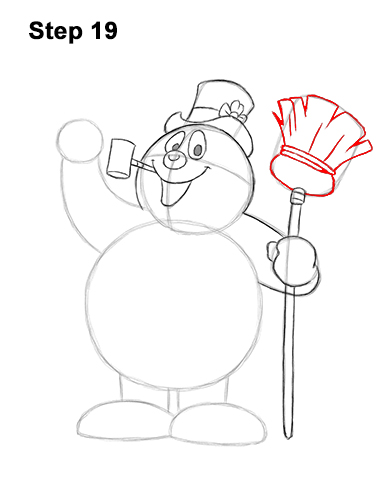 How to Draw Frosty the Snowman Christmas 19