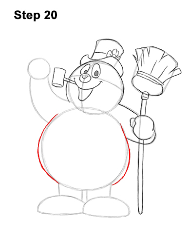 How to Draw Frosty the Snowman Christmas 20