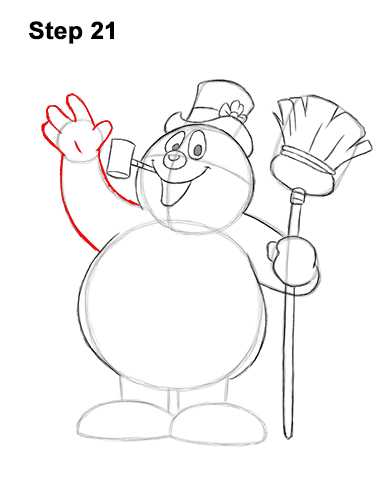 How to Draw Frosty the Snowman Christmas 21