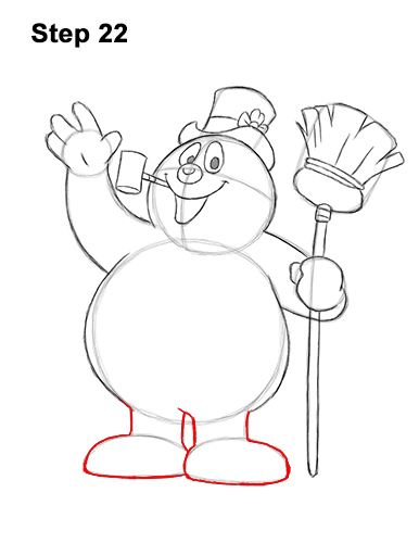 How to Draw Frosty the Snowman Christmas 22