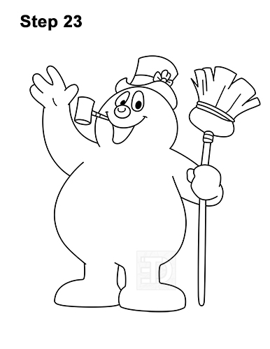 How to Draw Frosty the Snowman Christmas 23