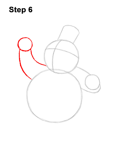 How to Draw Frosty the Snowman Christmas 6