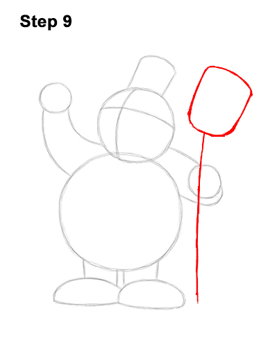 How to Draw Frosty the Snowman Christmas 9