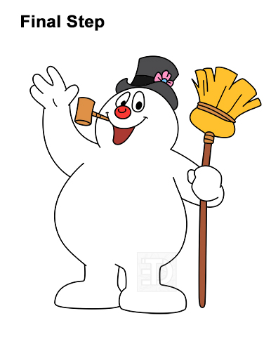 How to Draw Frosty the Snowman Christmas