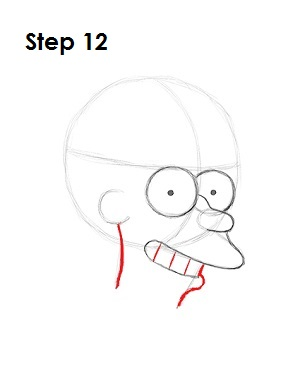 How to Draw Fry Step 12