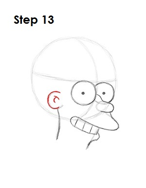 How to Draw Fry Step 13