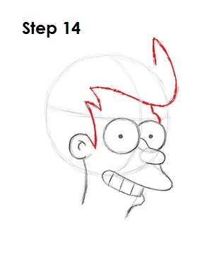 How to Draw Fry Step 14