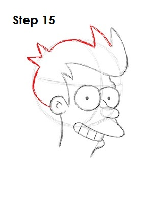 How to Draw Fry Step 15