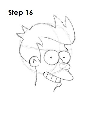How to Draw Fry Step 16