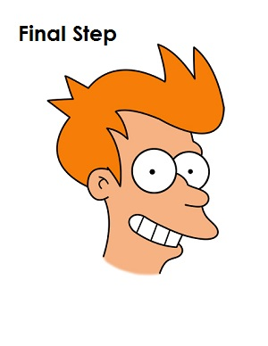 How to Draw Fry Step 18