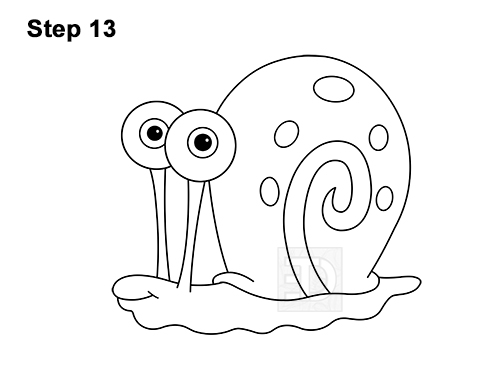 How to Draw Gary the Snail Spongebob Squarepants 13