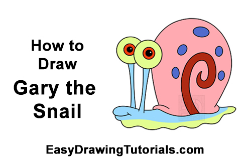 How to Draw Gary the Snail Spongebob Squarepants