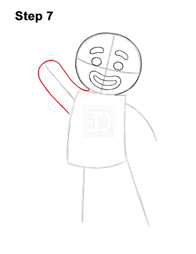 How to Draw Gingerbread Man Shrek Candy Cane 7