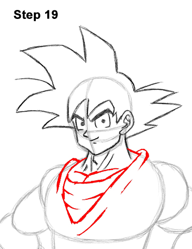 How to Draw Goku Full Body Dragon Ball Z 19