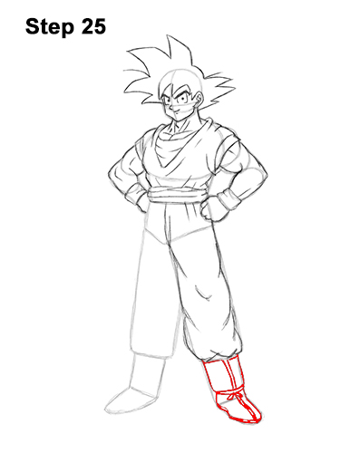 How To Draw Goku Full Body With Step By Step Pictures
