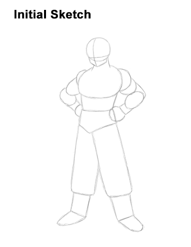 How to Draw Goku Full Body Dragon Ball Z Guide Lines