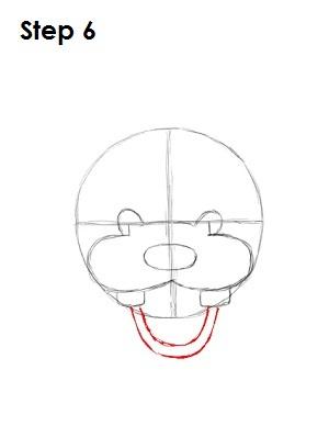 Draw Goofy Step 6