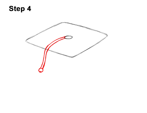 How to Draw Cartoon Graduation Cap Diploma Mortarboard 4