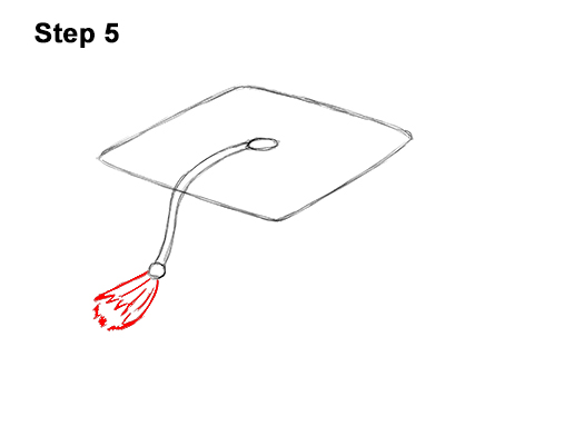 How to Draw Cartoon Graduation Cap Diploma Mortarboard 5