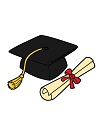 How to Draw Graduation Cap Diploma