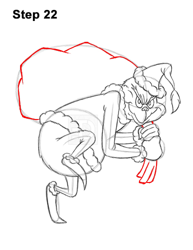 How to Draw The Grinch Stole Christmas 22