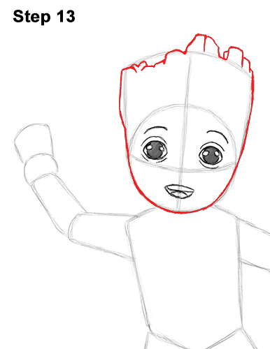 How to Draw Baby Groot Full Body Guardians of the Galaxy 13