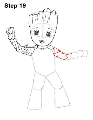 How to Draw Baby Groot Full Body Guardians of the Galaxy 19