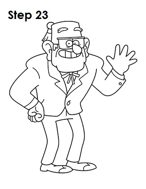 Draw Grunkle Stan 23