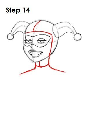 How to Draw Harley Quinn Step 14