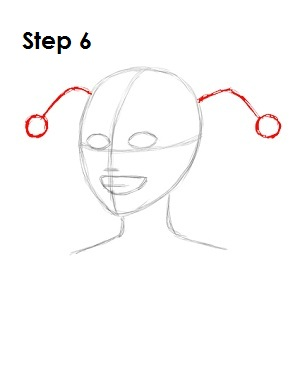 How to Draw Harley Quinn Step 6
