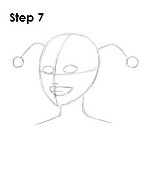 How to Draw Harley Quinn Step 7