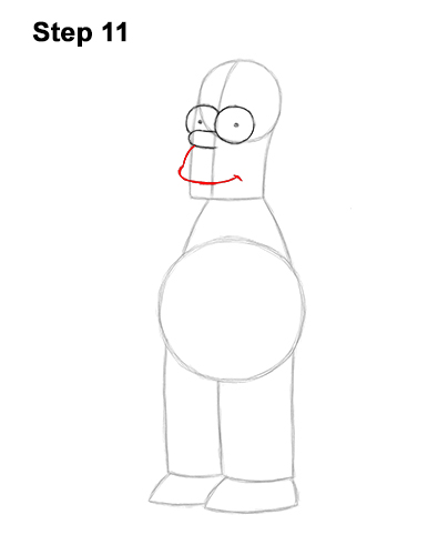 How to Draw Homer Simpson Full Body 11