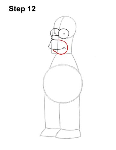 How to Draw Homer Simpson Full Body 12