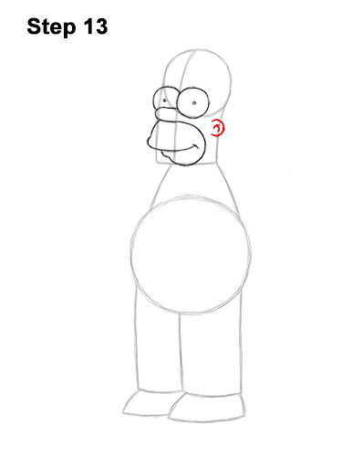 How to Draw Homer Simpson Full Body 13