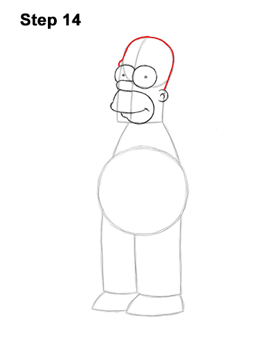 How to Draw Homer Simpson Full Body 14