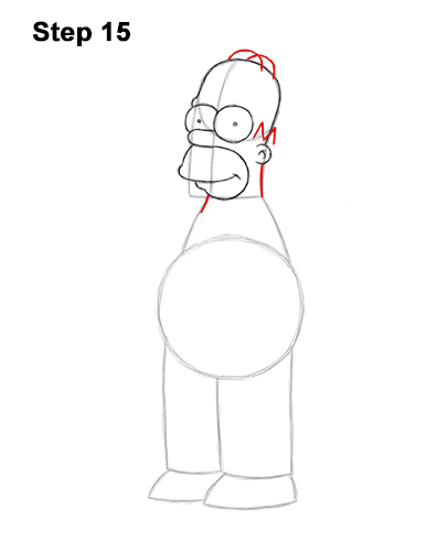 How to Draw Homer Simpson Full Body 15