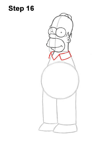How to Draw Homer Simpson Full Body 16