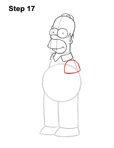 How to Draw Homer Simpson Full Body 17